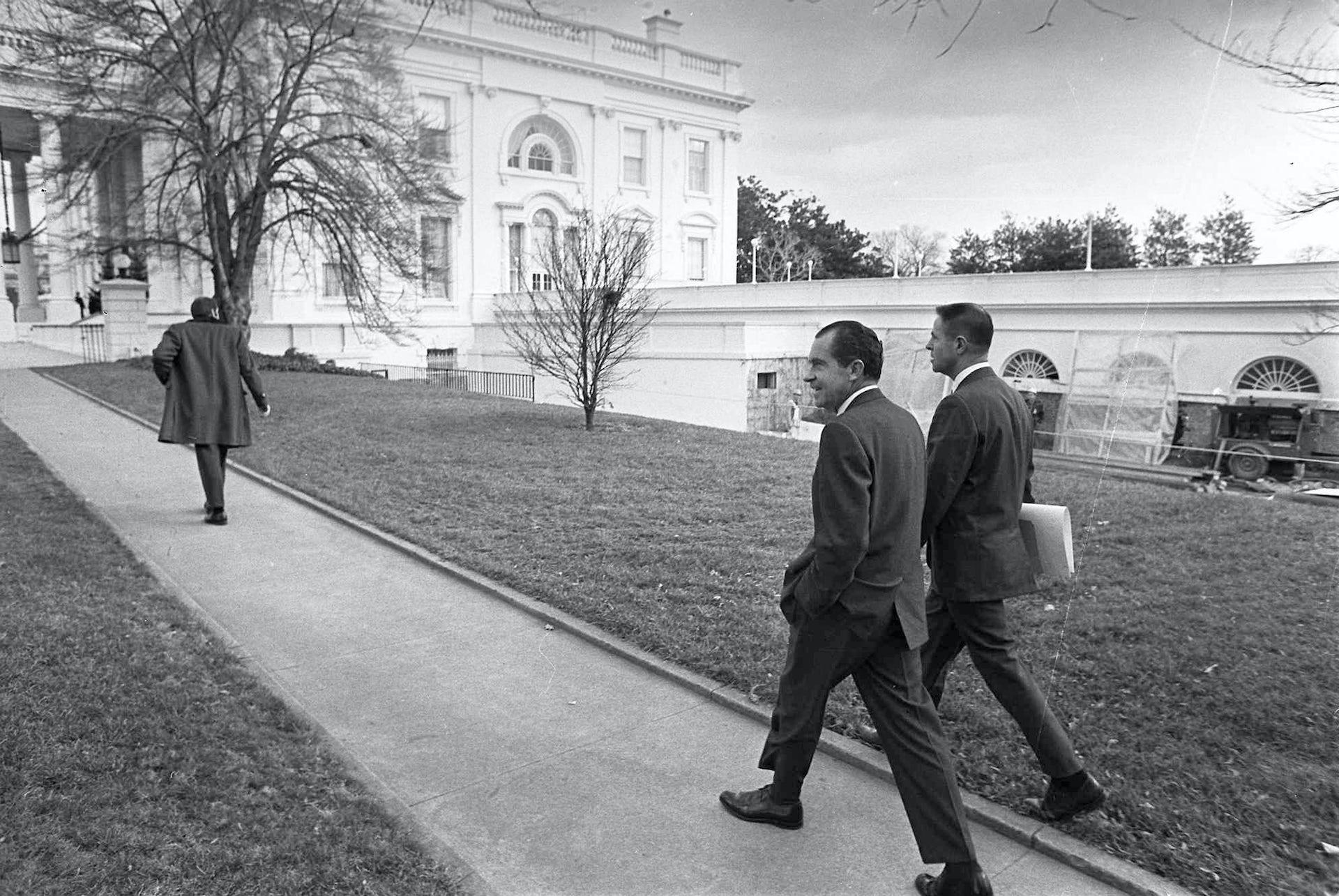 Nixon and Haldeman at the White House, 1969. AP Photo/File