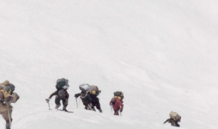 Into the freezer. A scene from Kangchenjunga 1955. Courtesy: British Film Institute/Royal Geographical Society