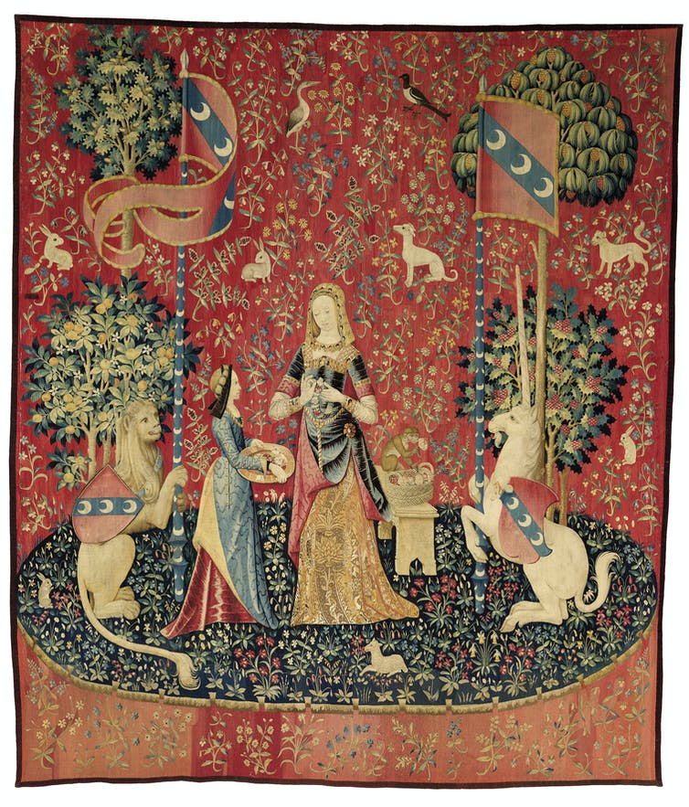 Explainer: The Symbolism Of The Lady And The Unicorn Tapestry Cycle