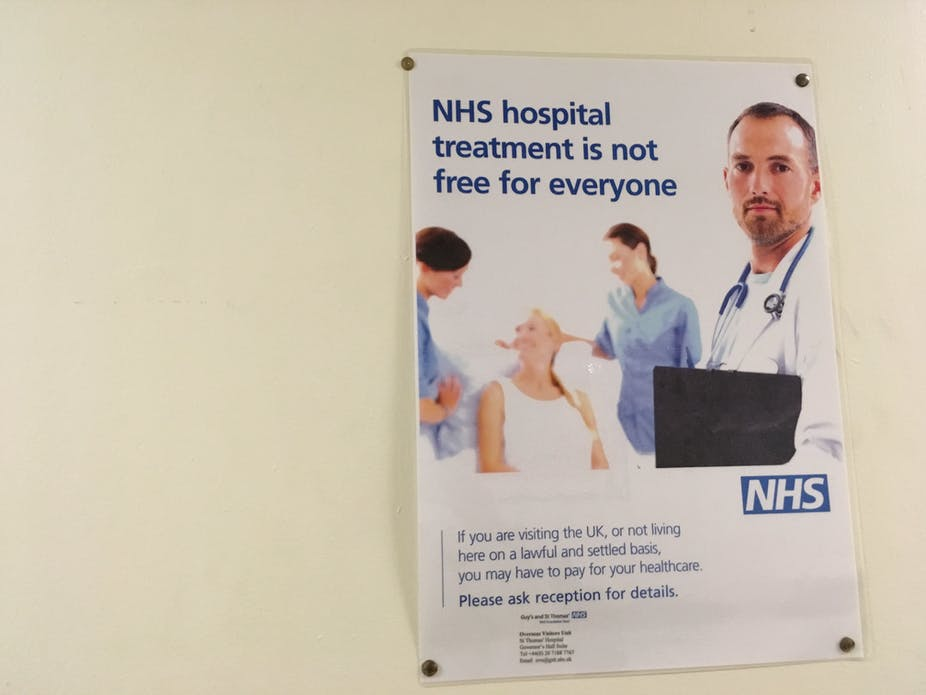 Who has to pay for the NHS and when?