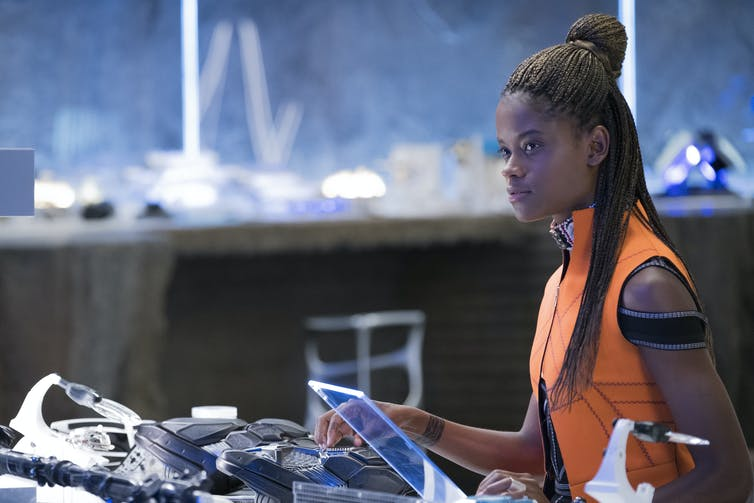 Black Panther isn't an isolated genius – his half-sister Shuri is a technological wiz herself