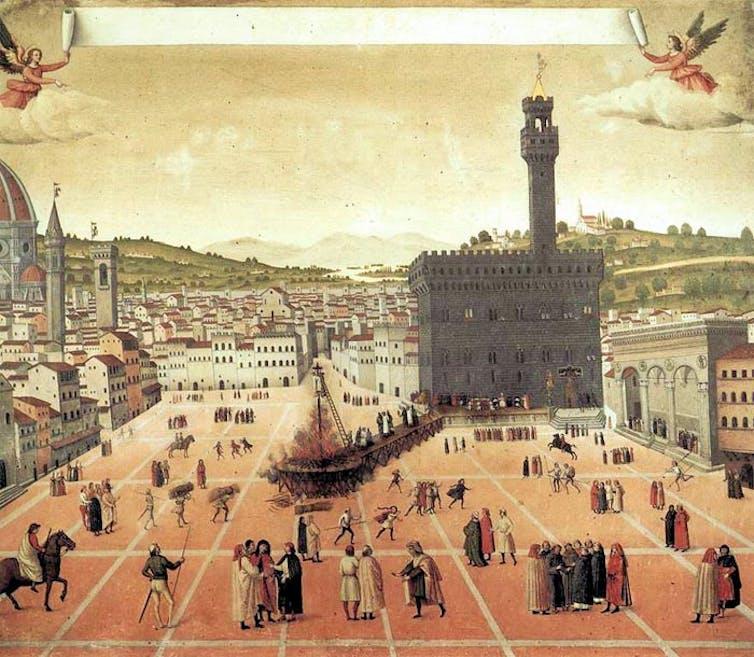 The Execution of Savonarola and Two Companions at Piazza della Signoria