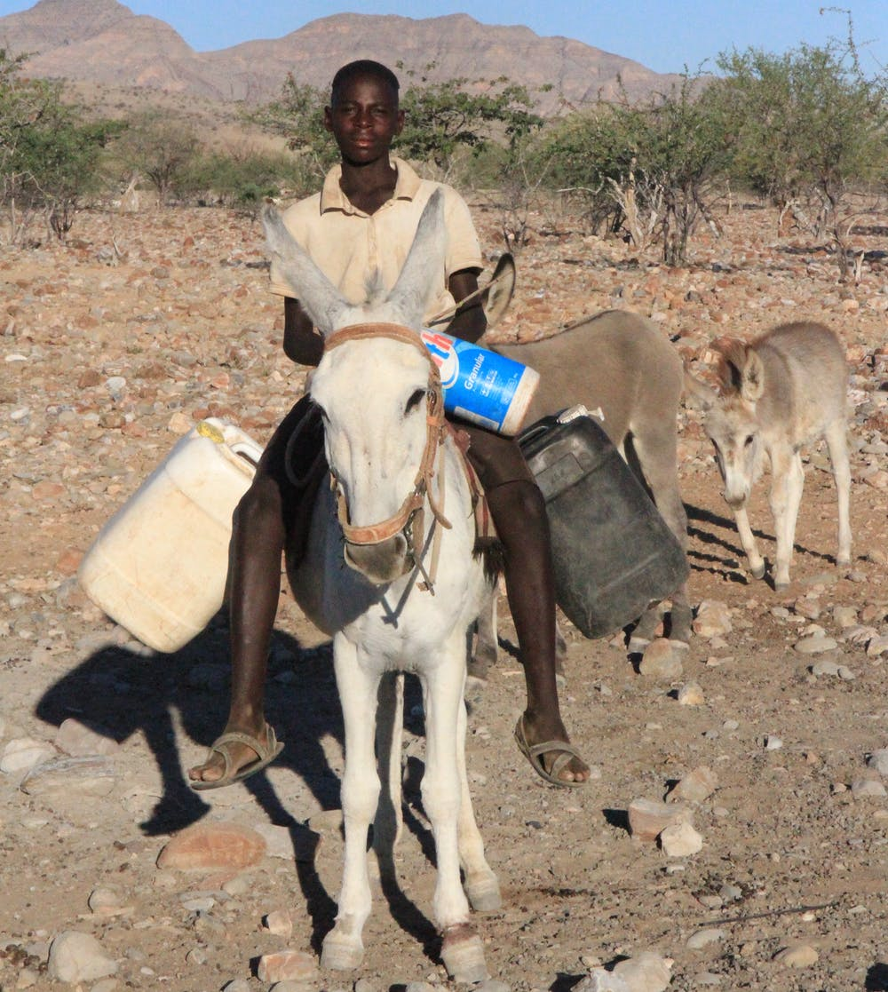 Water Can Be Hard To Access In Rural Areas This Young Namibian Travels Two Miles Round Trip Every Day Collect For Drinking Cooking And Cleaning