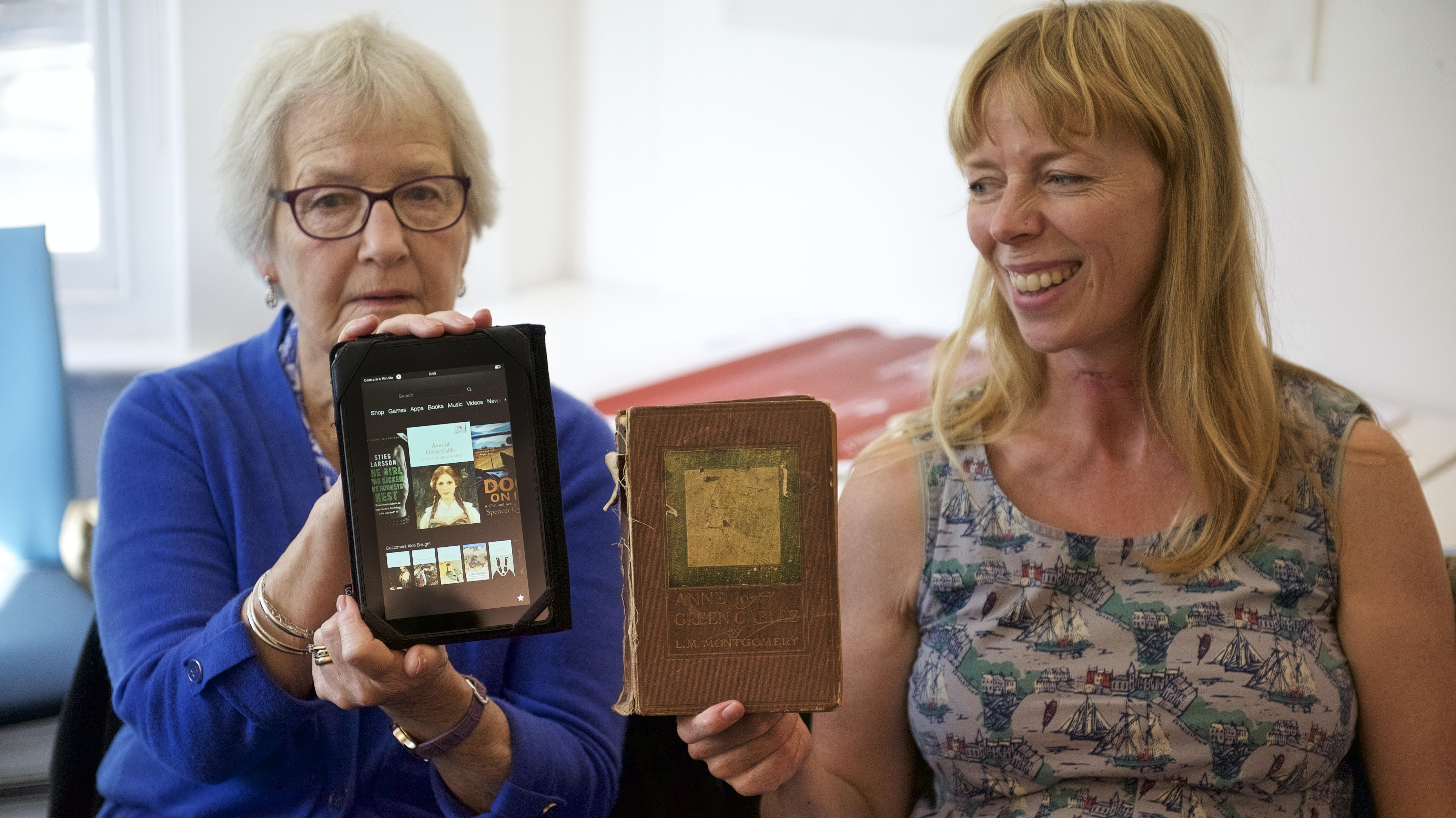 Mother and daughter Barbara and Jenni Creswell enjoyed Anne of Green Gables in both print and ebook format. Photo credit: Ray Gibson, Author provided