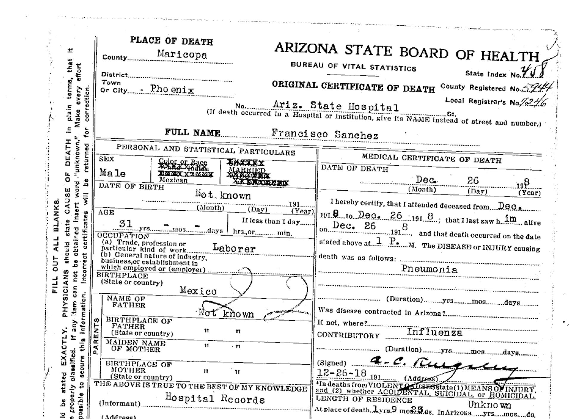 Obtaining a Certified Death Certificate in Arizona