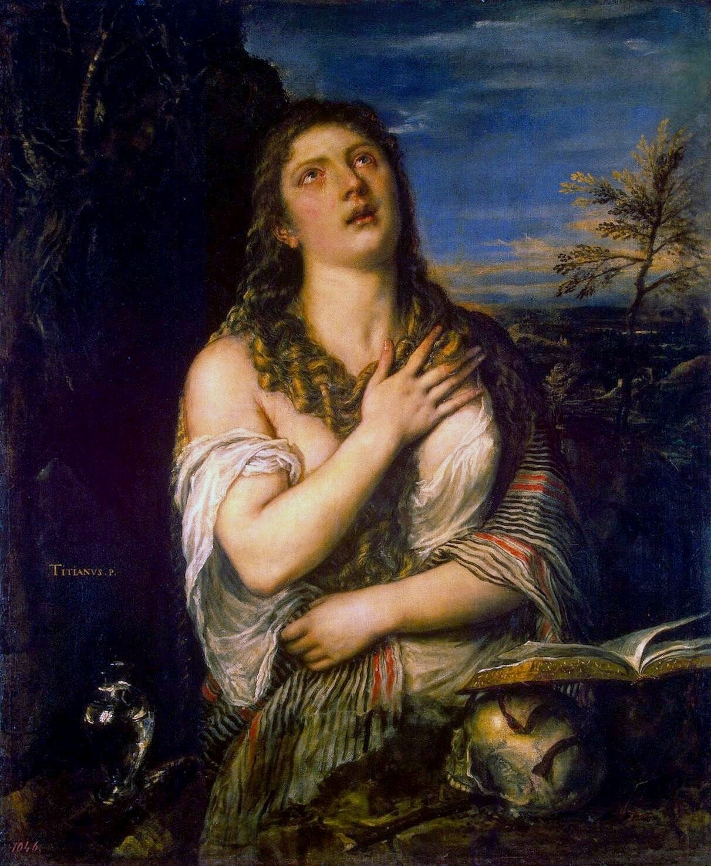 Titian Penitent Magdalene, circa 1565