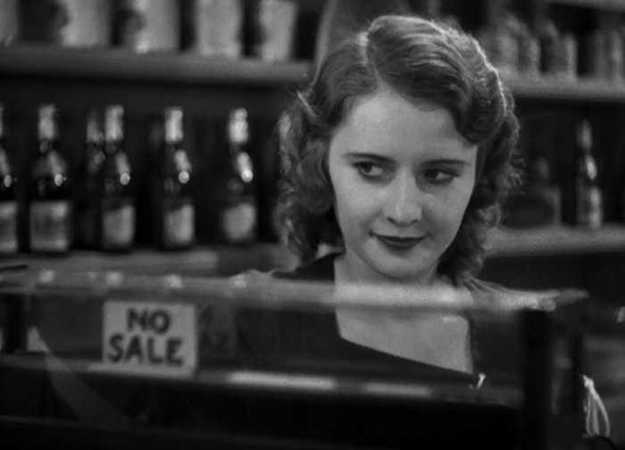 It's 'No Sale' for the men pursuing Kitty Lane (Barbara Stanwyck) in this scene from 'Shopworn' (1932). Columbia Pictures Corporation, Author provided