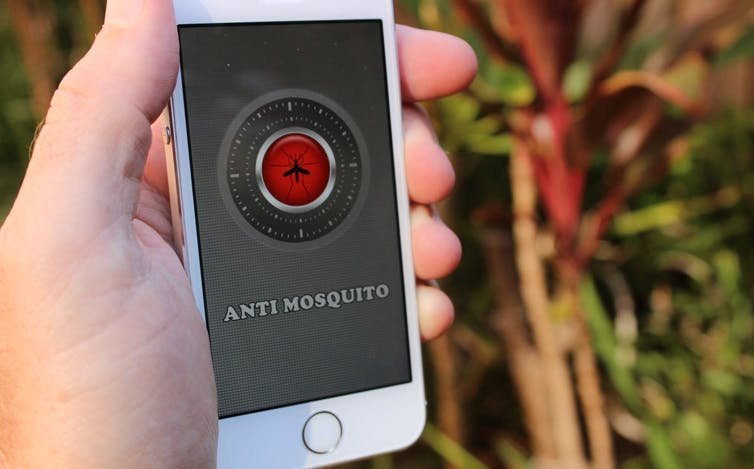 The buzz from your smartphone won't stop mosquito bites