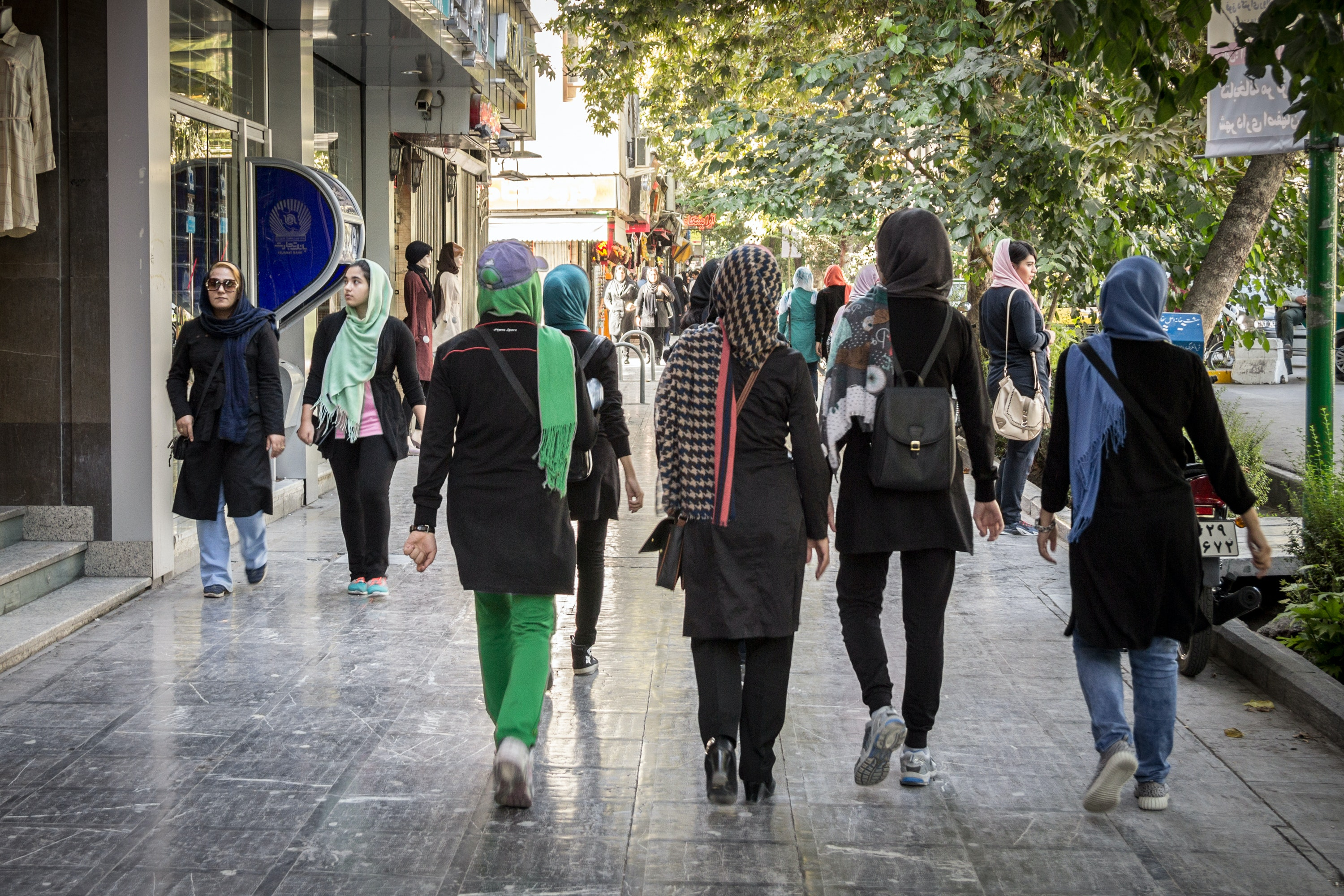 Women walking in the streets of Isfahan, Iran, in August 2016. (Shutterstock)