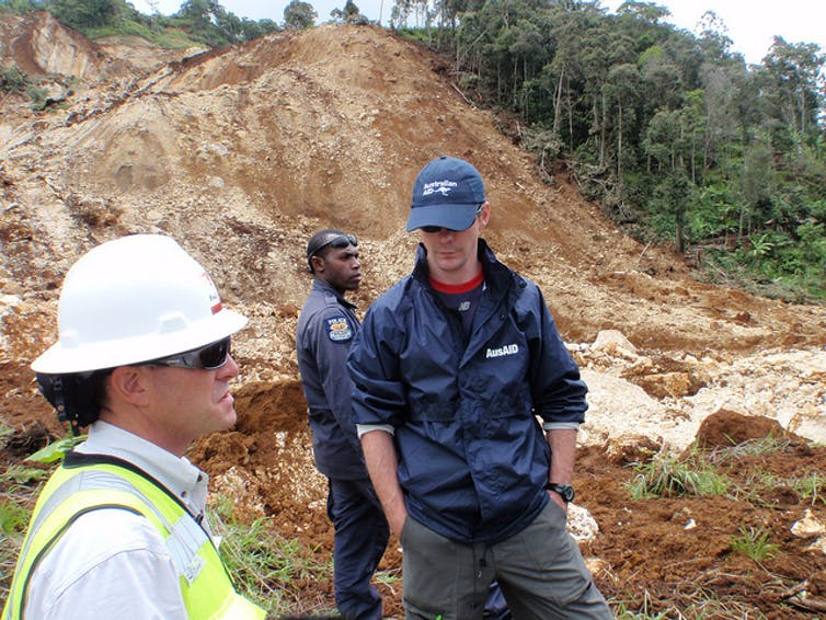 A 2012 landslide in the southern highlands of Papua New Guinea.  dfataustralianaid/flickr, CC BY