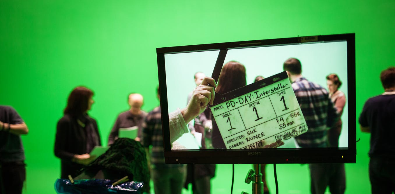 I've always wondered: why is a green screen green?