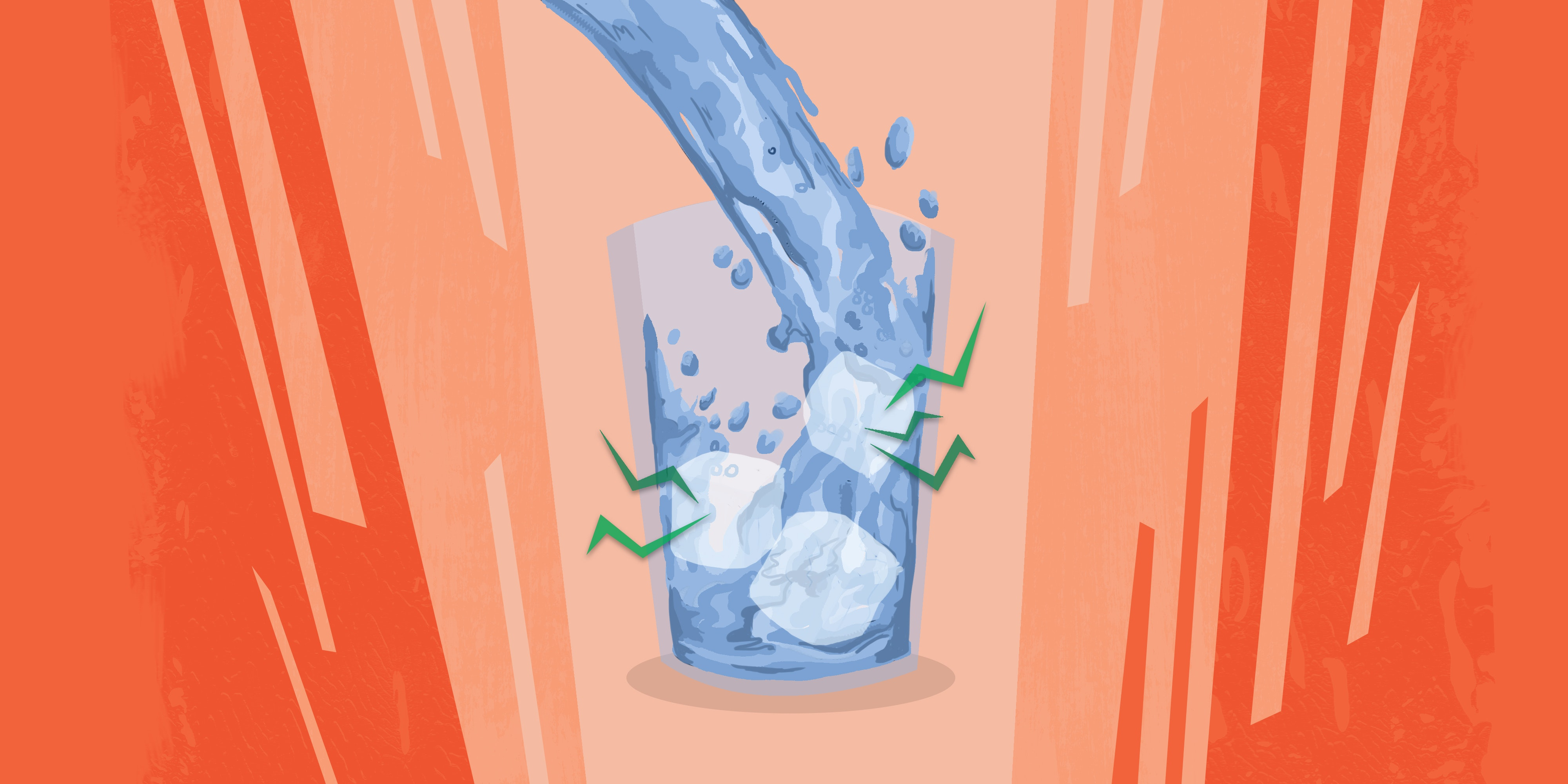Curious Kids: Why does ice make a cracking sound when water is poured on it?