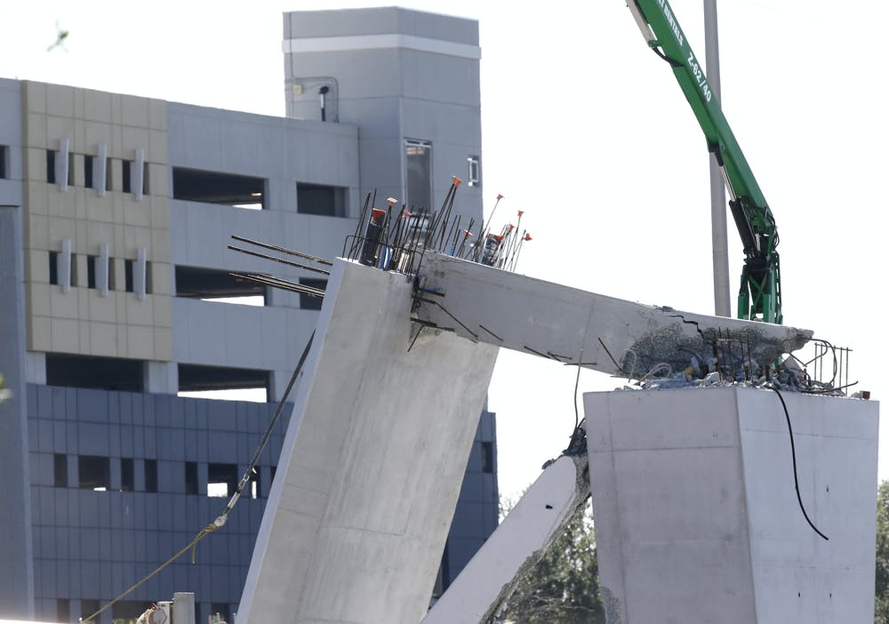 How do forensic engineers investigate bridge collapses, like the one