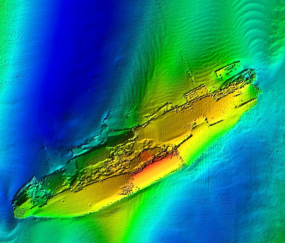 We're mapping wartime shipwrecks to explore the past – and