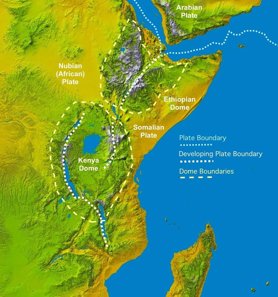 Crack in East African Rift Valley Is Evidence of Continent Splitting