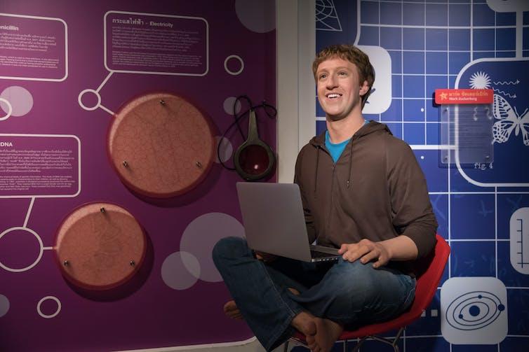 A waxwork of Facebook boss Mark Zuckerberg. Shutterstock