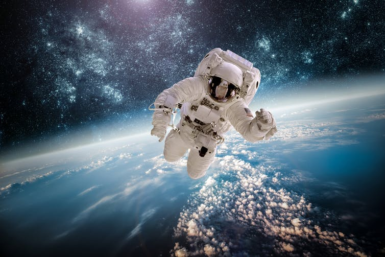 A lack of load causes back problems for astronauts. Andrey Armyagov/Shutterstock.com