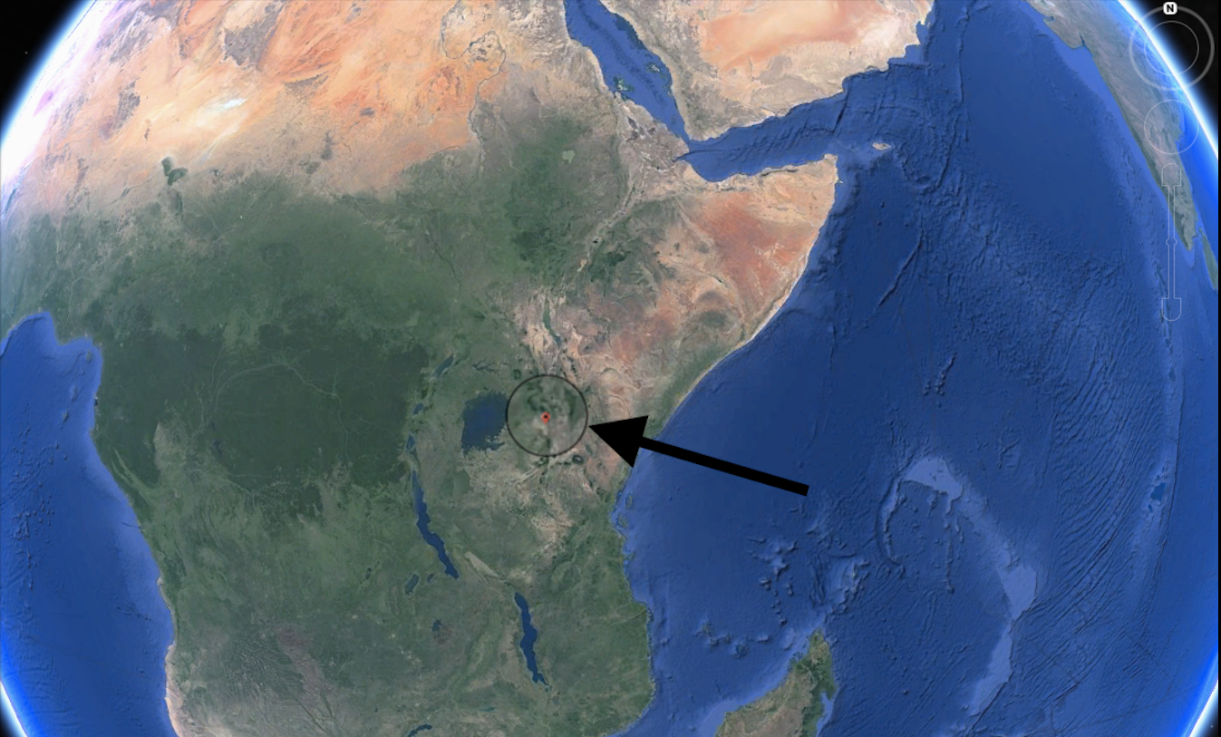 Image result for Image of Large crack in East African Rift is evidence of continent splitting in two
