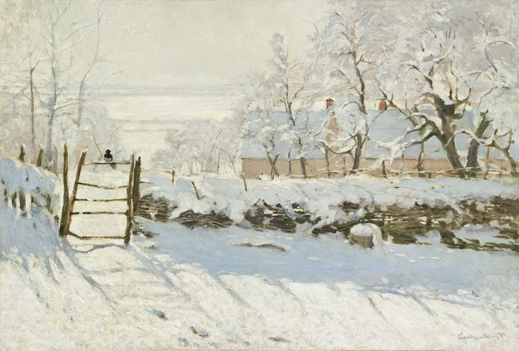 In The Magpie, Monet found all the colour in a snowy day