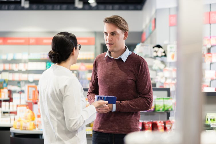 A pharmacist may need to combine various types of knowledge to tailor advice to individual customers. (Image: Shutterstock)