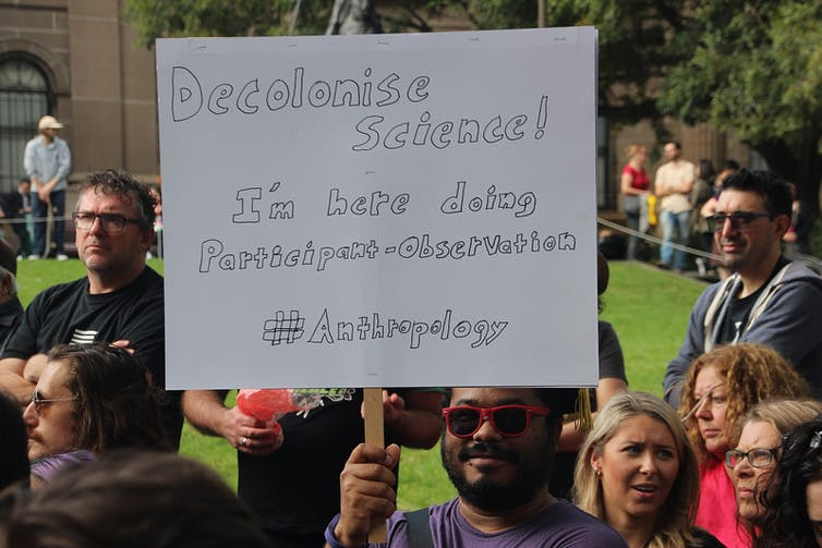 A March for Science protester in Melbourne. Credit: Wikimedia Commons/TakverCC BY-SA