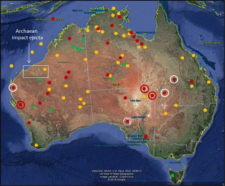 how asteroids made an impact on Australia