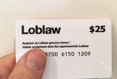A $25 Loblaws gift card.
