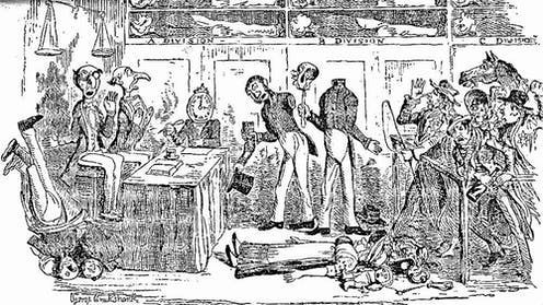 George Cruikshank's impression of Dickens' dystopia.