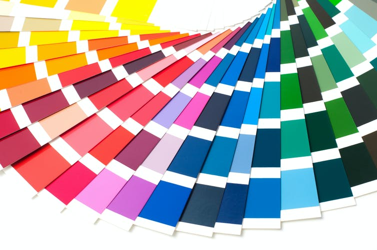 People see colours differently according to the way their language categorises them. Shutterstock