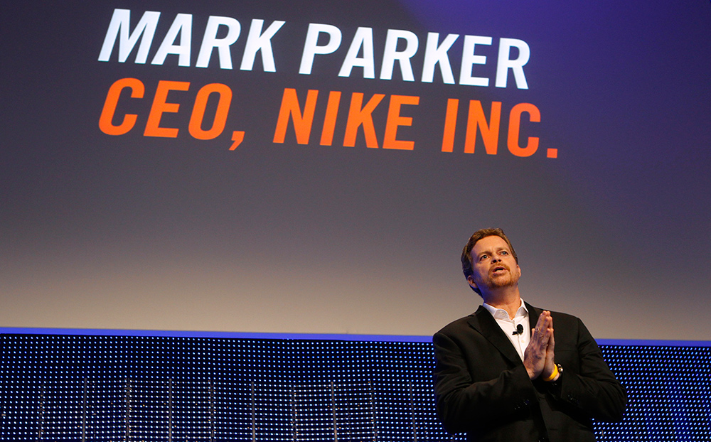Nike Chief Executive Officer Mark Parker is trying to clean up the mess at  his company. Reuters/Mike Segar