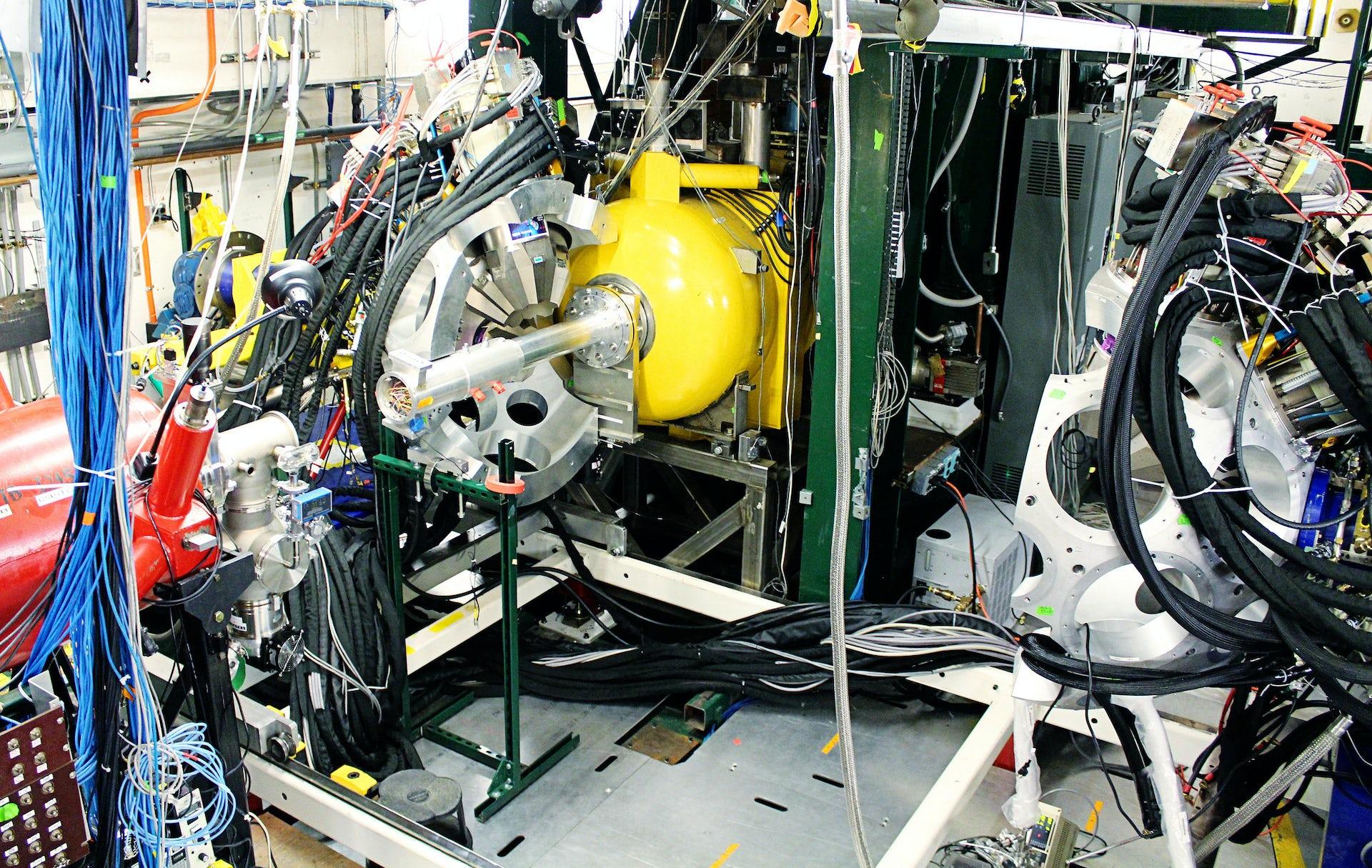 Photo of nuclear physics equipment at MSU. Photo credit National Superconducting Cyclotron Laboratory.