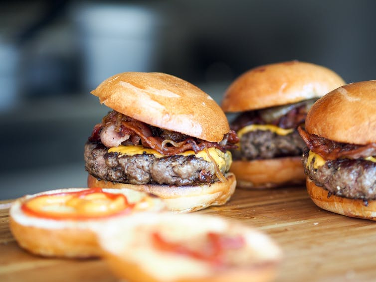 Bugs on the surface of meat can be minced throughout a burger. Image: Niklas Rhose/Unsplash