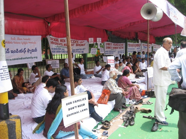 A demonstration to 'Save the Indian family' in New Delhi in 2007. Photo credit: newageindian/Wikimedia