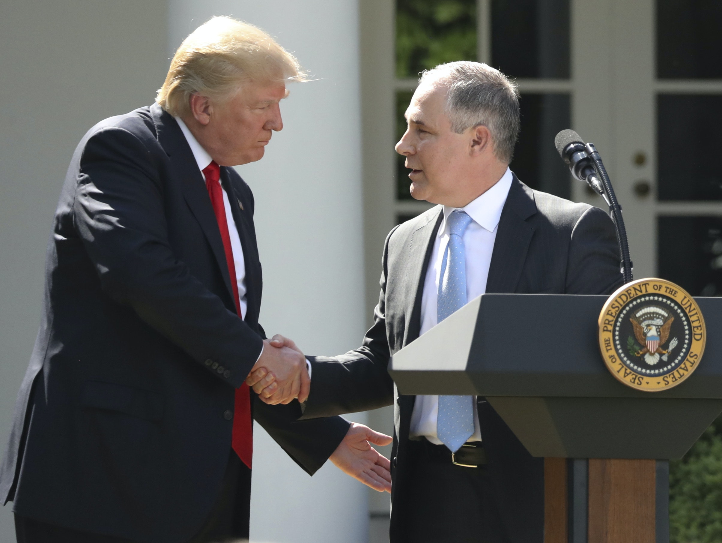 President Trump with EPA Administrator Scott Pruitt.