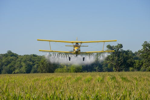 Farmers and cropdusting pilots on the Great Plains worried about