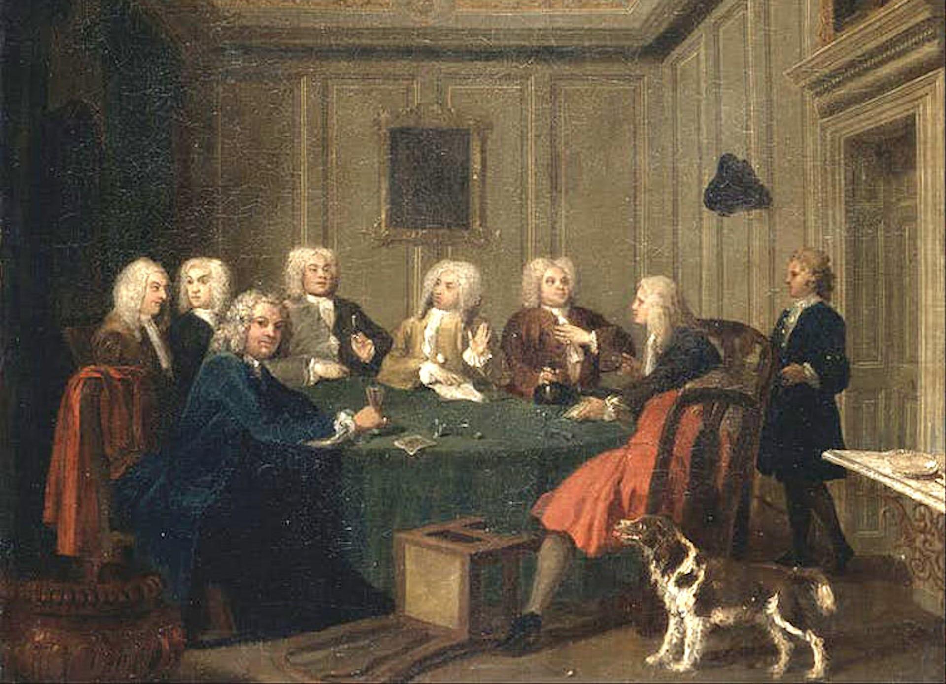 'Club of Gentlemen', circa 1730. Joseph Highmore/Wikimedia, CC BY