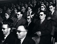 An early 3D film showing at the Festival of Britain, 1951. The National Archives