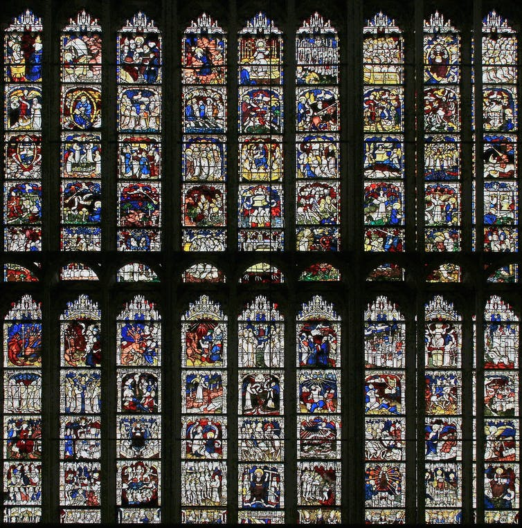 Great East Window, York Minster, which depicts scenes from the beginning and the end of the world. University of York