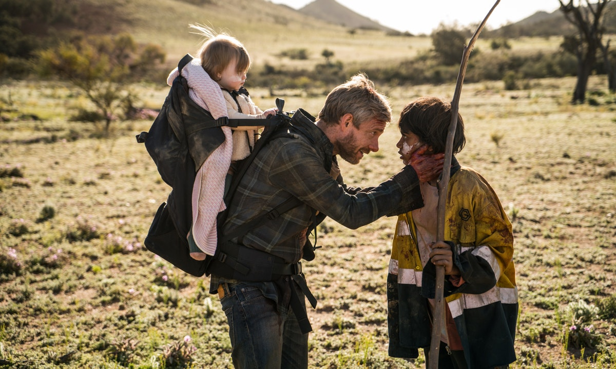 In Cargo, Martin Freeman plays Andy, a man who has to kill his wife after she turns into a zombie and travels across country with baby daughter Rosie on his back.