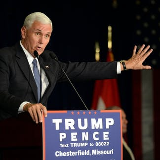 In this September 2016 file photo, Mike Pence speaks to supporters at a  rally in Missouri. (Shutterstock)