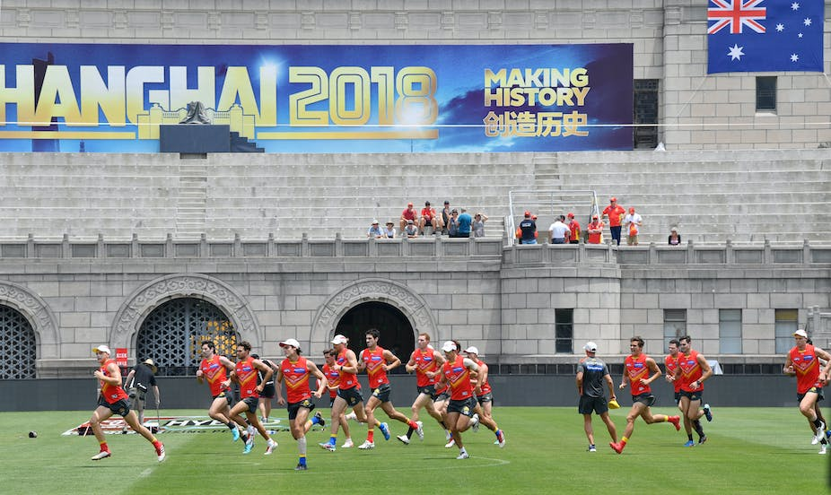 7fd4bf01b On the mark  how the Shanghai AFL game might strengthen Australia-China  relations