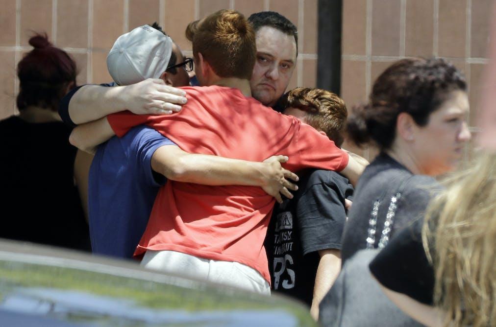 Outside Santa Fe High School in Texas on May 18, 2018. AP Photo/David J.  Phillip