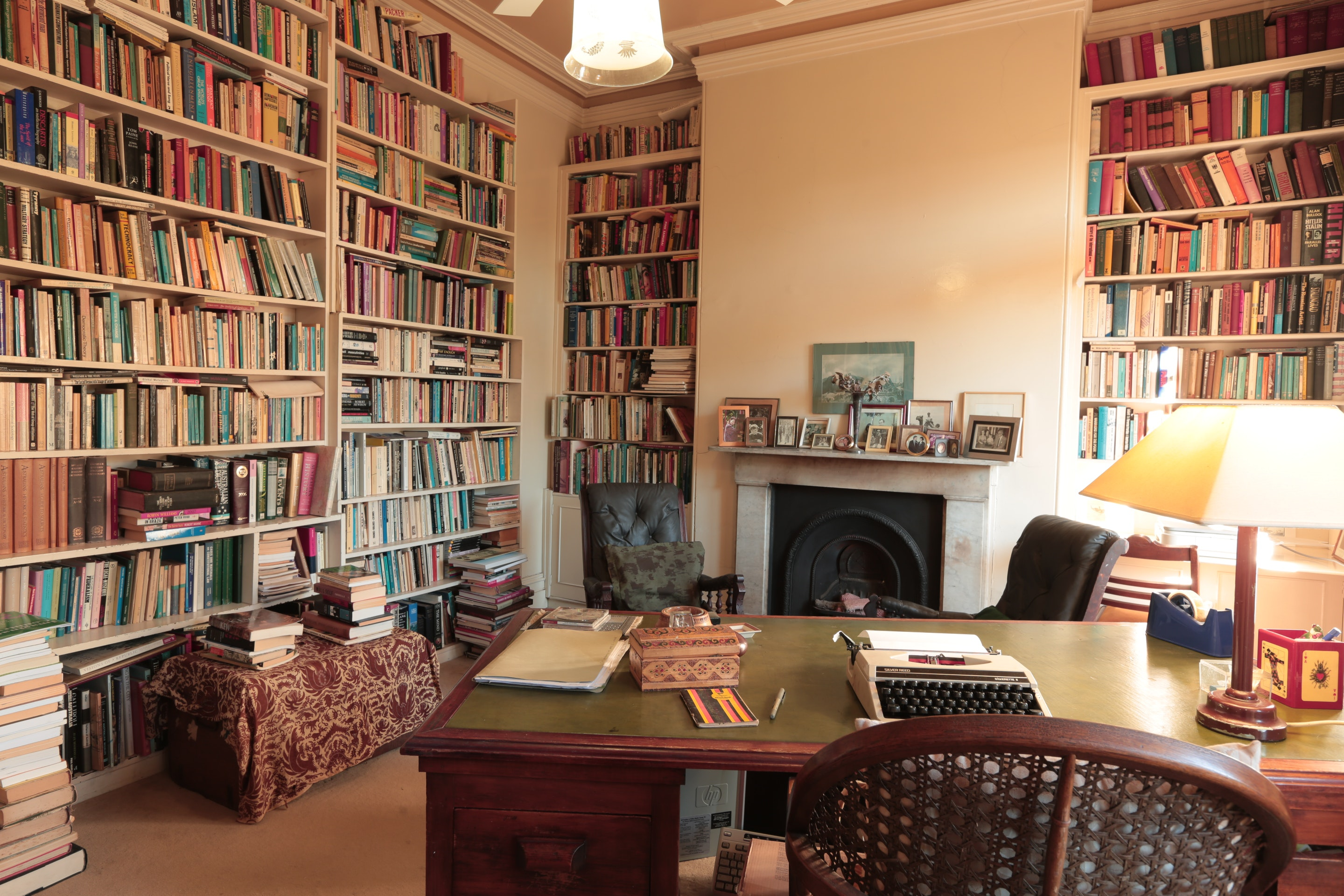 An armchair, a desk and 4000 books: the Horne family study gets a second life