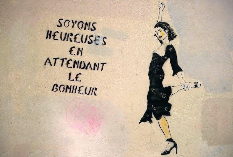 (pochoir de l'artiste Miss.Tic). Denis Bocquet / Flickr, CC BY-SA