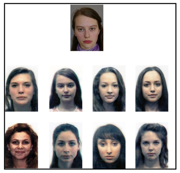 Combining the facial recognition decisions of humans and