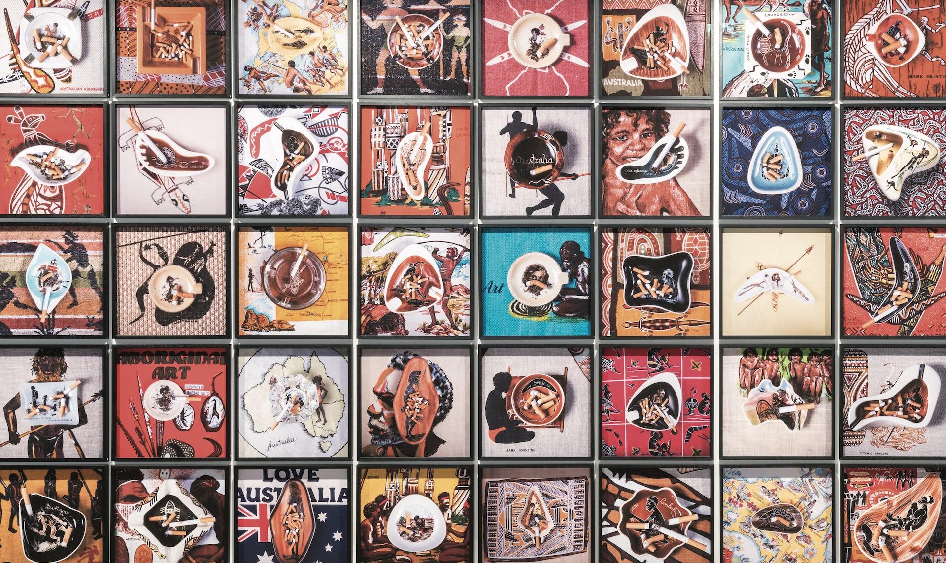 Tony Albert Girramay/Yidinji/Kuku Yalanji peoples. Australia Qld/NSW b.1981. Mid Century Modern (series) 2016. Pigment prints | 24 works: 100 x 100cm (each)