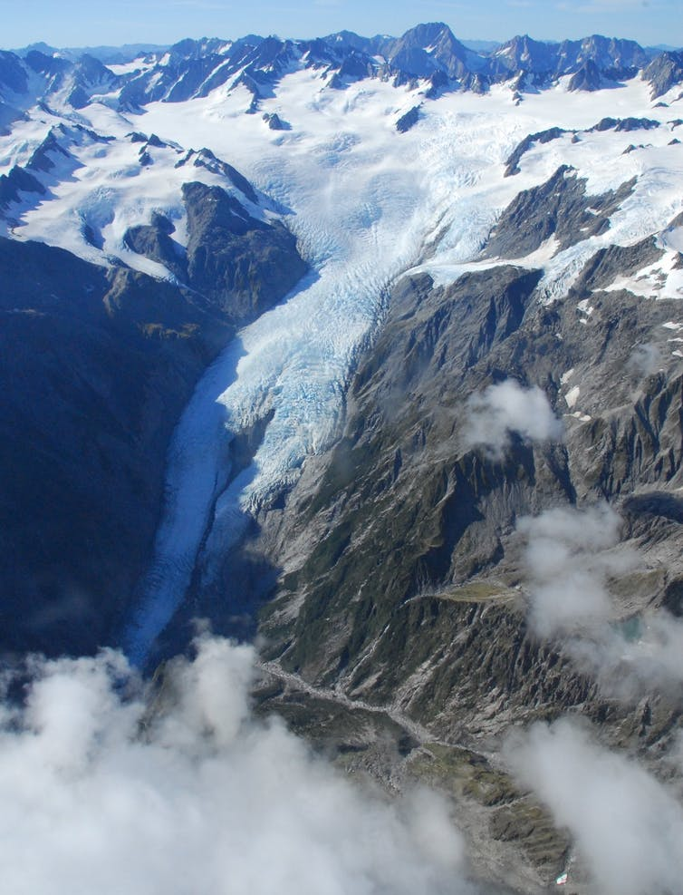 A bird's eye view of New Zealand's changing glaciers