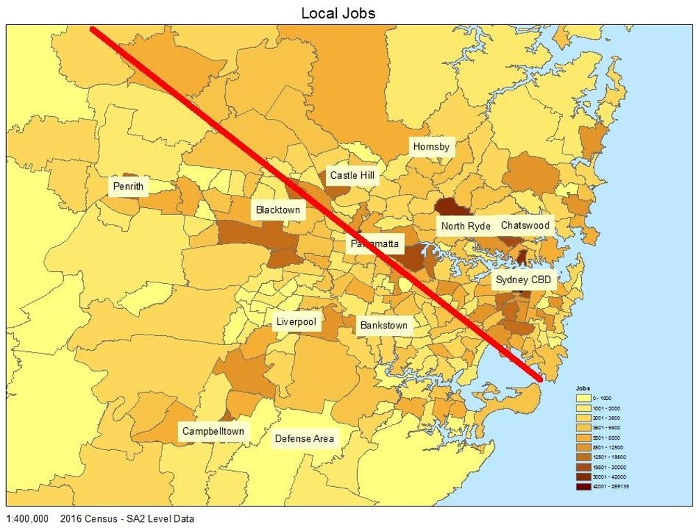 Another tale of two cities: access to jobs divides Sydney