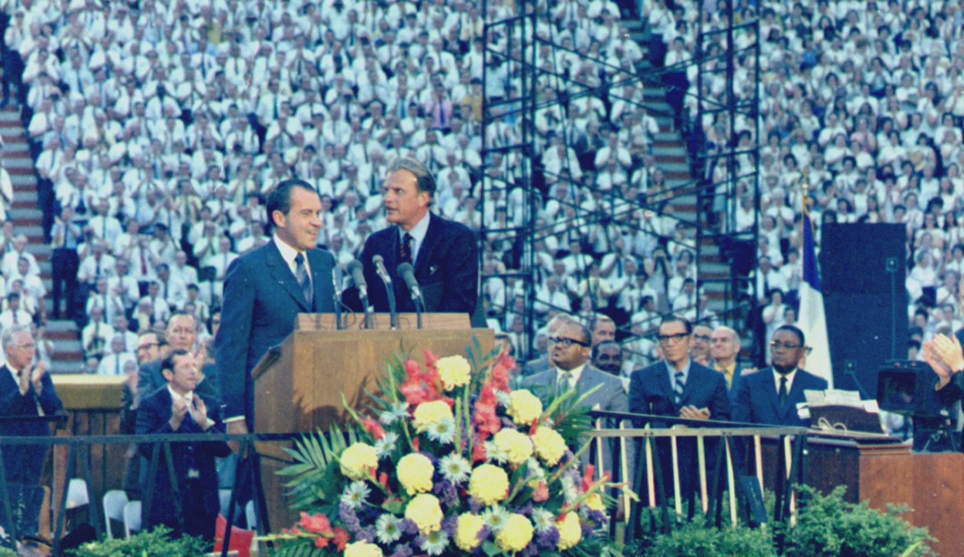 Richard Nixon with Billy Graham