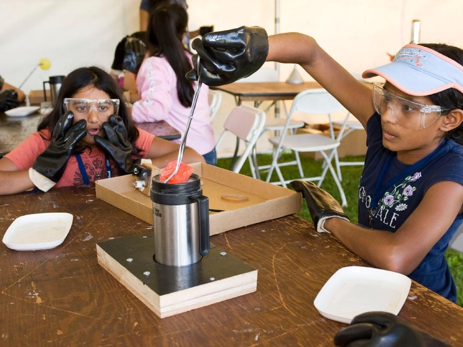 As part of NASA's commitment to the next generation of explorers, NASA Ames collaborated with Sally Ride Science to sponsor and host the Sally Ride Science Festival at the NASA Research Park
